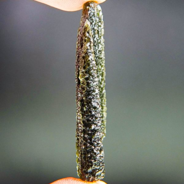 shiny large big angel chime moldavite with certificate of authenticity (12.36grams) 3
