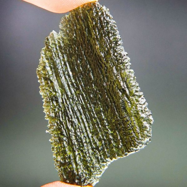 shiny large big angel chime moldavite with certificate of authenticity (12.36grams) 4