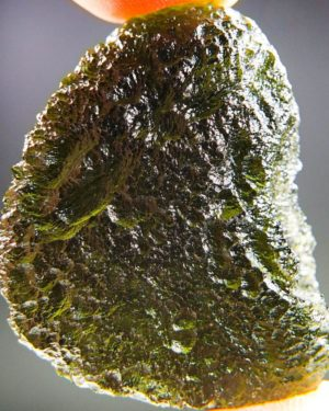 Shiny Large Moldavite With Certificate Of Authenticity (12.96grams) 1