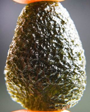 shiny rare moldavite from chlum with certificate of authenticity (8.23grams) 1