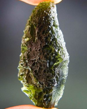 totally unique two kinds of sculpture moldavite with certificate of authenticity (15.05grams) 2
