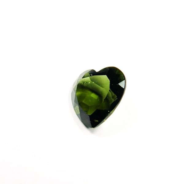 beautiful heart shape faceted moldavite with certificate of authenticity (0.965gram) 2