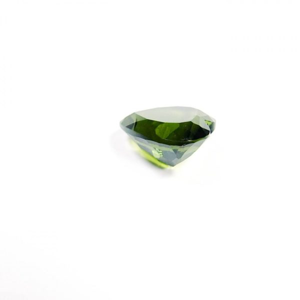 beautiful heart shape faceted moldavite with certificate of authenticity (0.965gram) 3