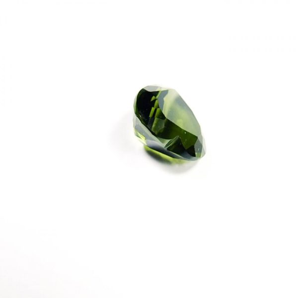 beautiful heart shape faceted moldavite with certificate of authenticity (0.965gram) 4