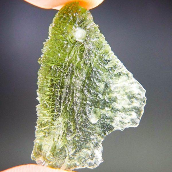 beautiful yellow green drilled moldavite pendant (4.55grams) 4
