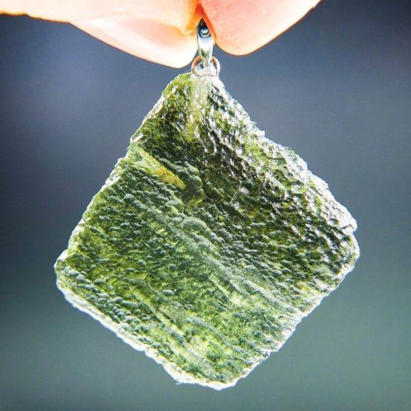 bottle green color moldavite pendant (6.39grams) 1