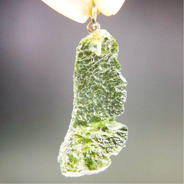 bottle green moldavite from chlum pendant (3.89grams) 4