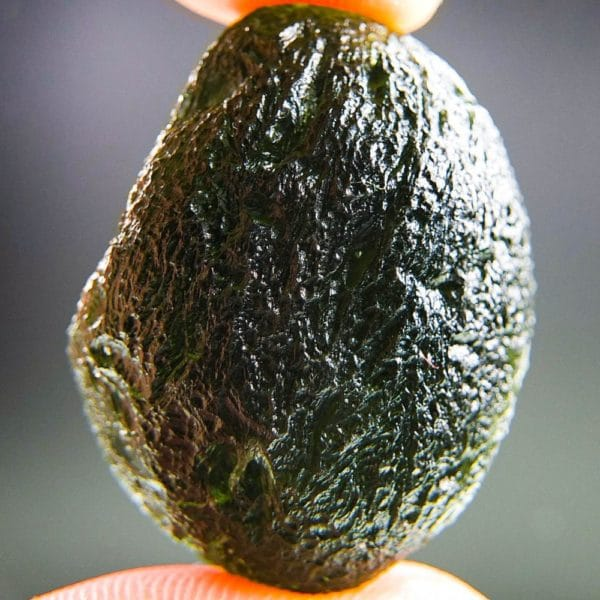 boulder shape large moldavite with certificate of authenticity (14.49grams) 1