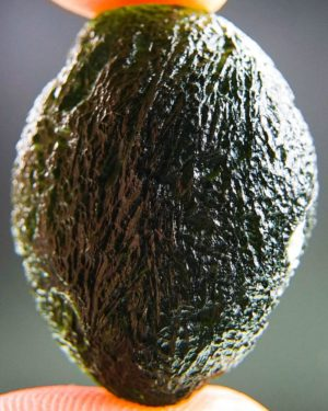 boulder shape large moldavite with certificate of authenticity (14.49grams) 2