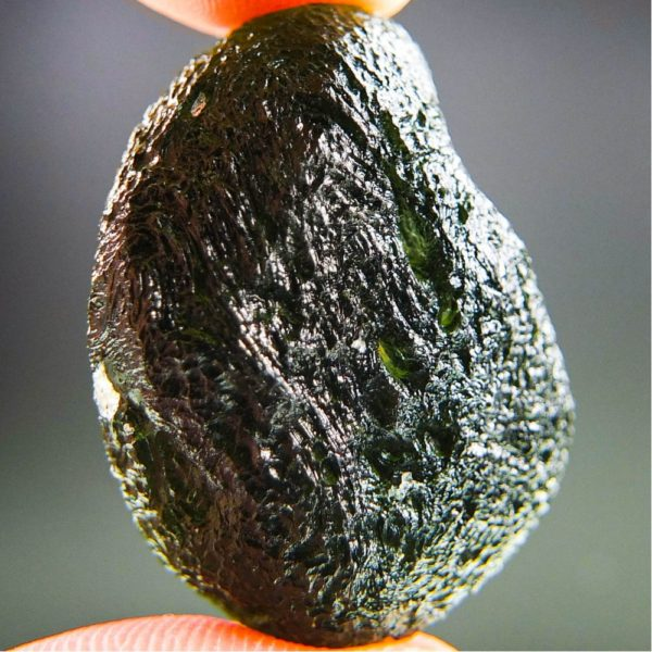 boulder shape large moldavite with certificate of authenticity (14.49grams) 4