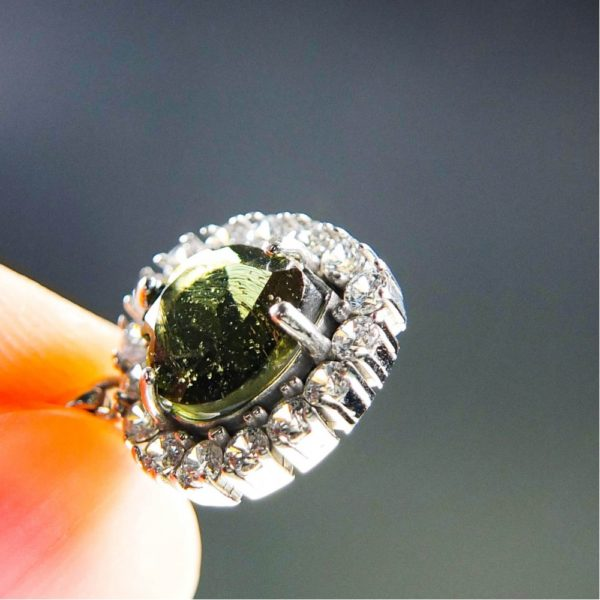 dazzling heart shape moldavite with zircons pendant (2.41grams) 5