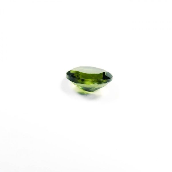 dazzling oval faceted shape moldavite with certificate of authenticity (0.37grams) 3