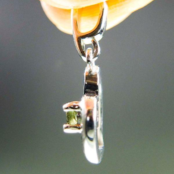 faceted moldavite in heart shape silver pendant (1.27grams) 3
