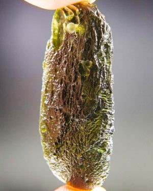 glossy drilled moldavite pendant (9.71grams) 2