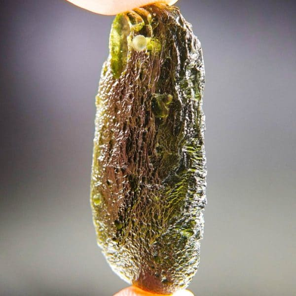 glossy drilled moldavite pendant (9.71grams) 2