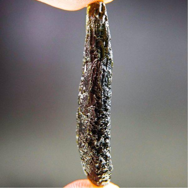 glossy drilled moldavite pendant (9.71grams) 3