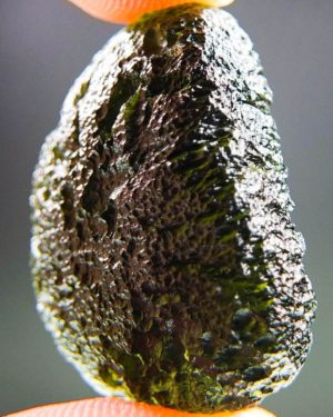 glossy olive green moldavite with certificate of authenticity (8.88grams) 2