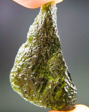 glossy olive green moldavite with certificate of authenticity (9.48grams) 2