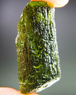 glossy rare moldavite with certificate of authenticity (8.01grams) 1