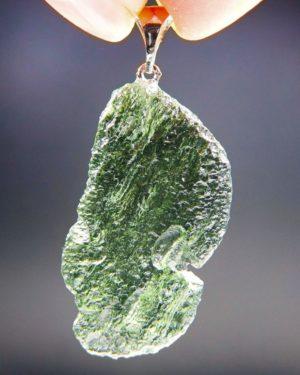 glossy vibrant green moldavite pendant (6.95grams) 1