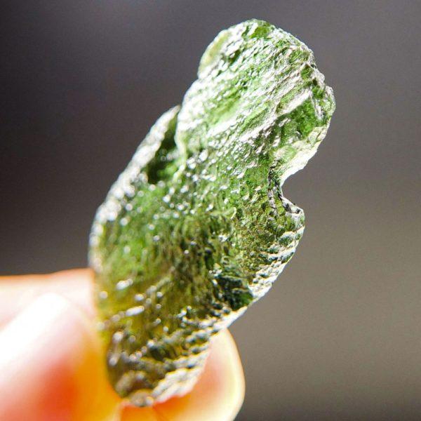glossy vibrant green moldavite pendant (6.95grams) 5