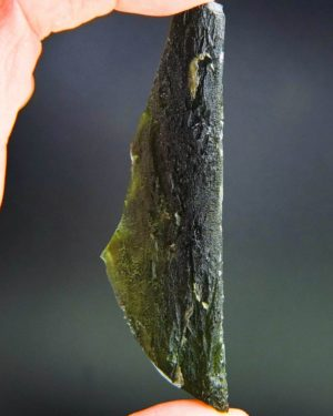 investment angel chime long moldavite with certificate of authenticity (24.96grams) 1