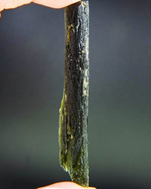 investment angel chime long moldavite with certificate of authenticity (24.96grams) 2