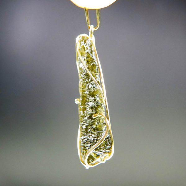 investment faceted moldavite in 14k gold pendant (2.13grams) 3