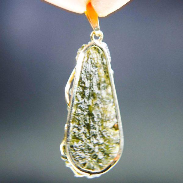 investment faceted moldavite in 14k gold pendant (2.13grams) 4