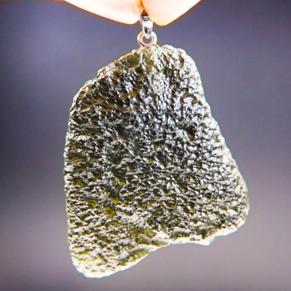 large glossy moldavite from chlum pendant (13.82grams) 1