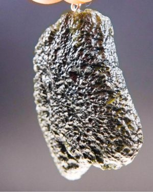 large glossy moldavite from chlum pendant (13.82grams) 2