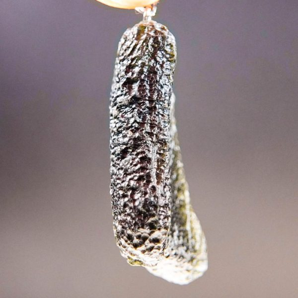 large glossy moldavite from chlum pendant (13.82grams) 3