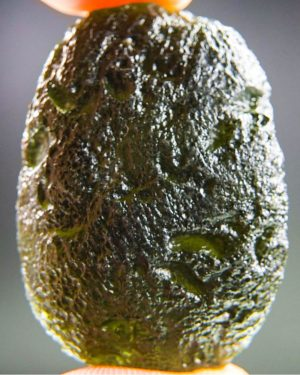 large light abrasion moldavite with certificate of authenticity (16.88grams) 1