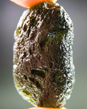 large light abrasion moldavite with certificate of authenticity (16.88grams) 2