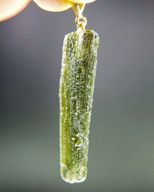 natural piece moldavite with gold pendant (4.56grams) 2