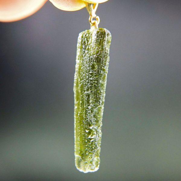 natural piece moldavite with gold pendant (4.56grams) 2