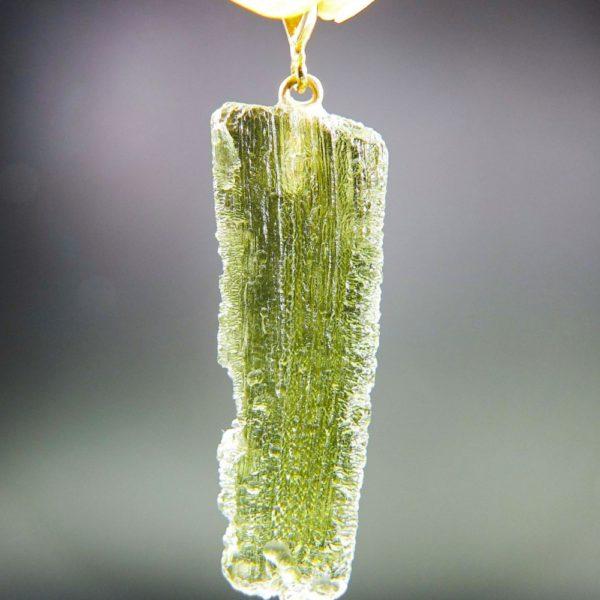 natural piece moldavite with gold pendant (4.56grams) 4