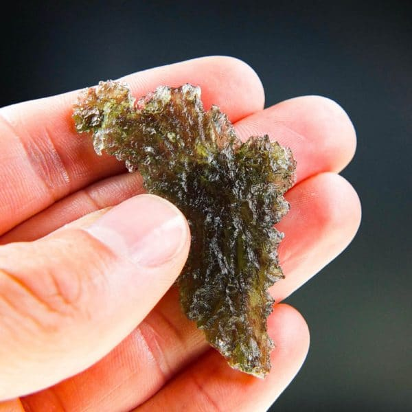 quality a+++ angel chime moldavite from besednice with certificate of authenticity (6.36grams) 5
