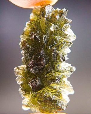 quality a+++ brown green investment moldavite from besednice with certificate of authenticity (7.3grams) 2