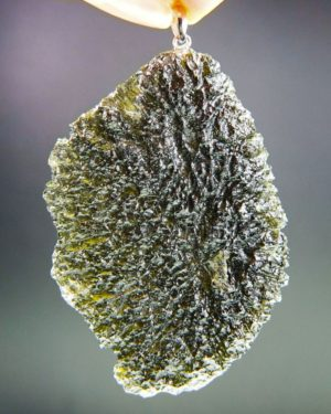 quality a+ brown green large moldavite pendant (19.34grams) 1