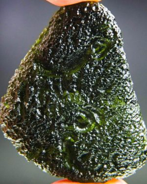 quality a+++ elipsoid shape large investment moldavite with certificate of authenticity (30.16grams) 1
