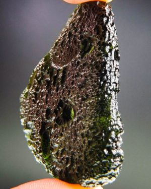 quality a+++ elipsoid shape large investment moldavite with certificate of authenticity (30.16grams) 2