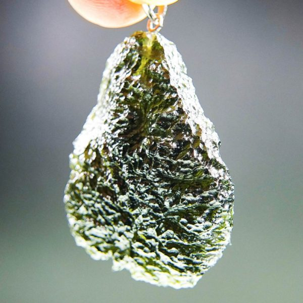 quality a+++ glossy large moldavite pendant with certificate of authenticity (11.94 grams) 2