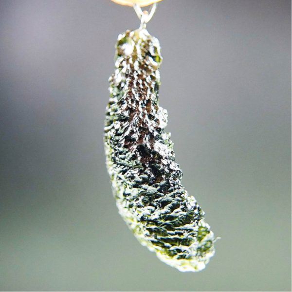 quality a+++ glossy large moldavite pendant with certificate of authenticity (11.94 grams) 3