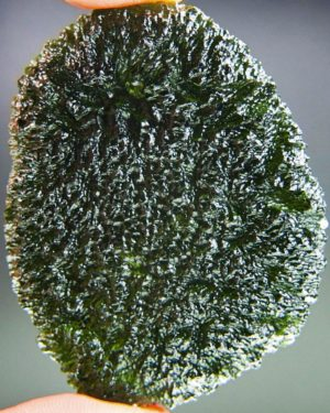quality a+ huge elipsoid shape moldavite with certificate of authenticity (48.73grams) 1