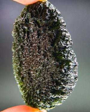 quality a+ huge elipsoid shape moldavite with certificate of authenticity (48.73grams) 2