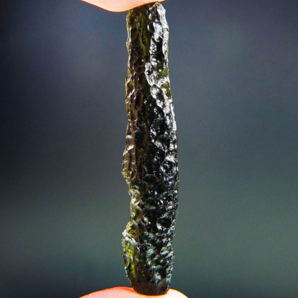 quality a+ investment angel chime moldavite with certificate of authenticity (8.08grams) 1