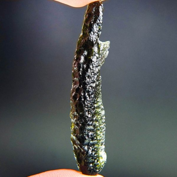 quality a+ investment angel chime moldavite with certificate of authenticity (8.08grams) 2