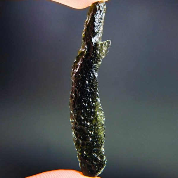 quality a+ investment angel chime moldavite with certificate of authenticity (8.08grams) 3