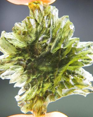 quality a+++++ investment olive green moldavite from besednice with certificate of authenticity (5.5grams) 1